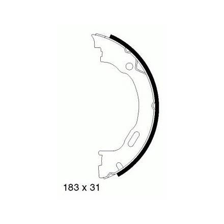 MINTEX  Rankinio stabdžio trinkelių komplektas MFR541