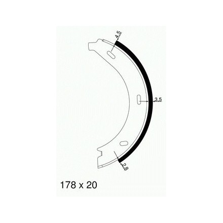 MINTEX  Rankinio stabdžio trinkelių komplektas MFR473