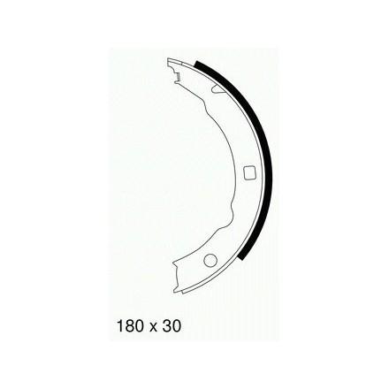 MINTEX  Rankinio stabdžio trinkelių komplektas MFR493