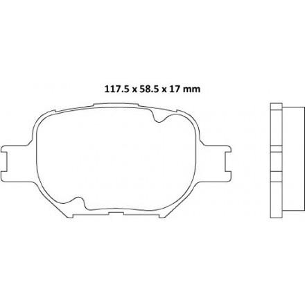 MINTEX  Stabdžių trinkelių komplektas MDB2291