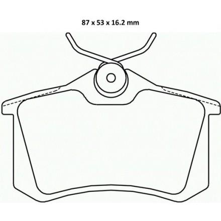 MINTEX  Stabdžių trinkelių komplektas MDB2782
