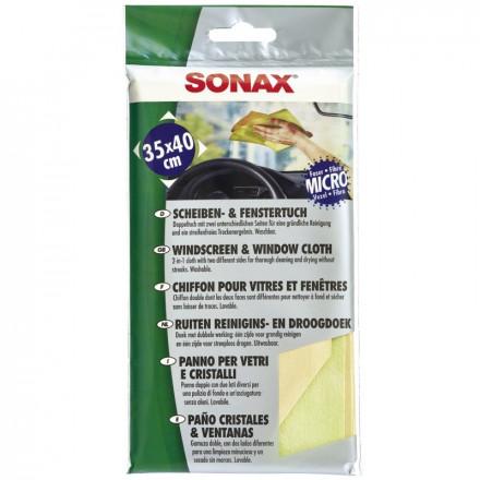 Dvipusė langų valymo servetėlė SONAX