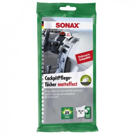 Drėgnos servetėlės plastikui 10 vnt  SONAX