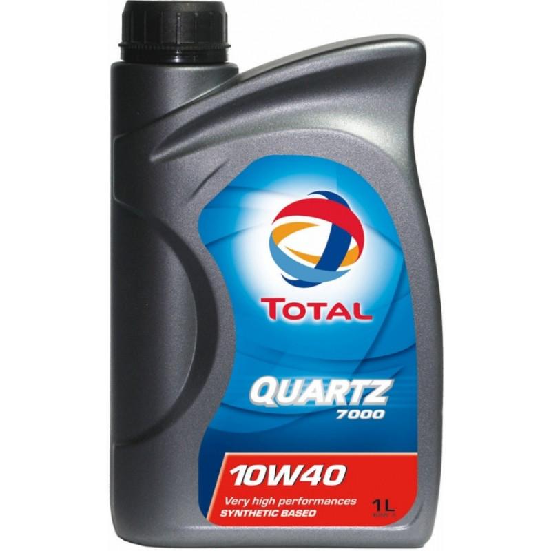 TOTAL Alyva Quartz 7000 10W/40 Pusiau sintetinė Varikliams 1 l Q7001 10W40 1L