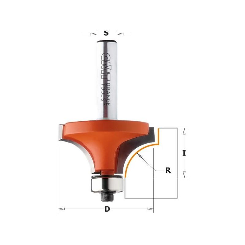 Freza HM S12 D50.8 R19 CMT