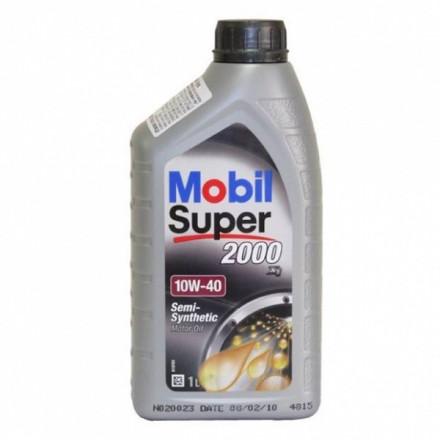 MOBIL Alyva Super 2000 10W/40 Pusiau sintetinė Varikliams 1 l 10W40 1L