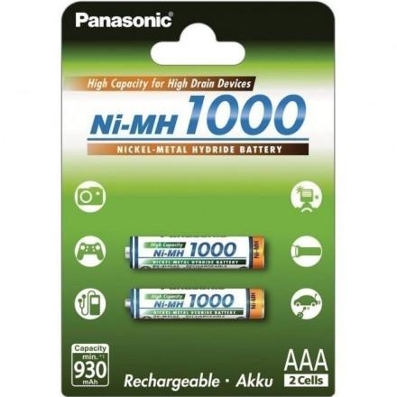 Akum. Panasonic NiMh HR03 1000 mAh (AAA)