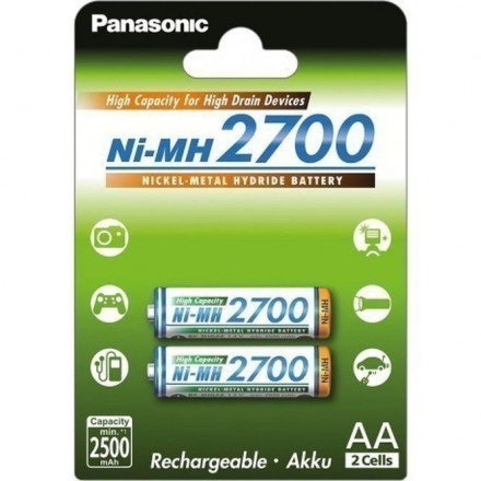 Akum. Panasonic NiMh HR6 2700 mAh (AA)