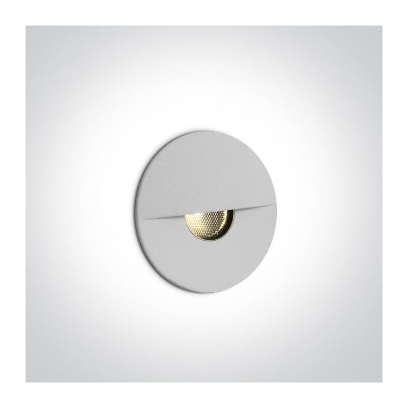 1W LED įleidžiamas, sieninis šviestuvas, IP65. Tiekiamas su betono dėžute instaliacijai, reikalingas LED25826 maitinimo