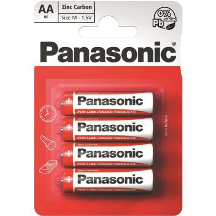 Panasonic Red Zinc R6 (AA)