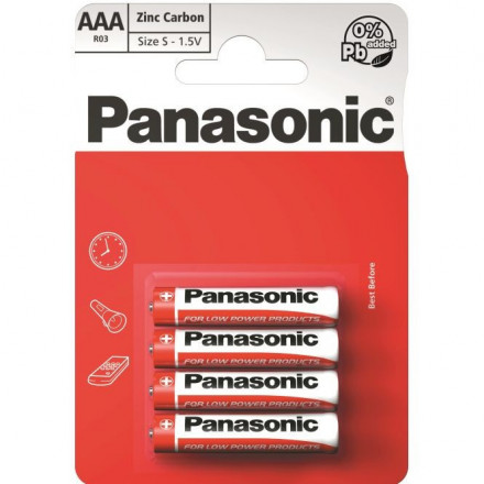 Panasonic Red Zinc R03 (AAA)