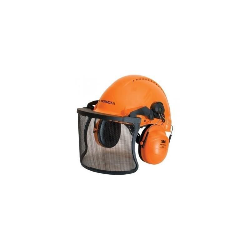 Šalmas su apsauginiu skydeliu ir ausinėmis HITACHI