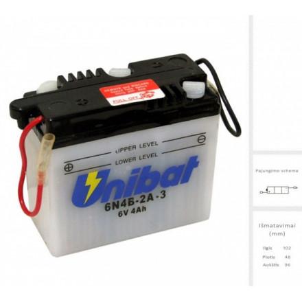 UNIBAT Akumuliatorius 4 Ah 6V 6N4B-2A-3
