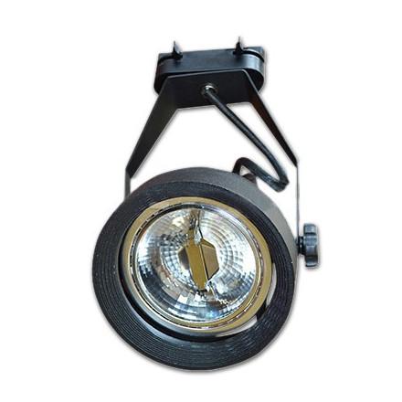 PAR 30 lemputės laikiklis ant bėgelio V-TAC, juodas