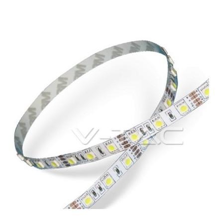 6 W/m LED juosta V-TAC, 5050, 30 LED/m, (3000K) šiltai balta
