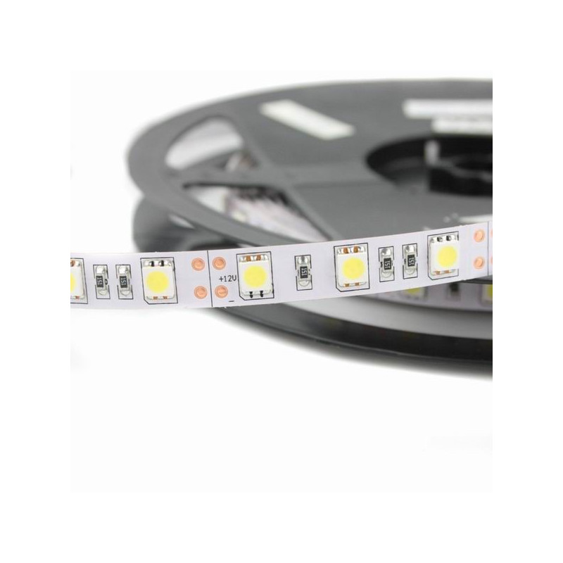 10.8 W/m LED juosta V-TAC, 5050, 60 LED/m, (3000K) šiltai balta
