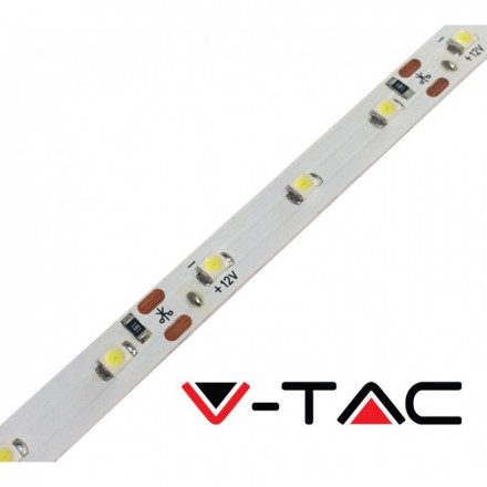 3,6 W/m LED juosta V-TAC, 3528, 60 LED/m, (4000K) dienos šviesa