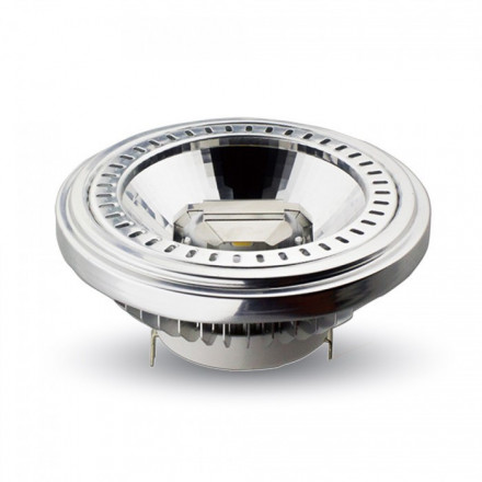 15W LED lemputė V-TAC AR111, 12V, Sharp LED, 40° kampas, šiltai balta