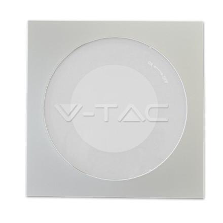Zhaga BALTAS dangtelis V-TAC, kvadratinis