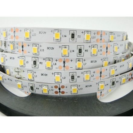 6 W/m LED juosta LUXSONN, 2835, 60 LED/m, 601lm/m, (3000K) šiltai balta. Karpoma kas 3 diodus (5 cm)
