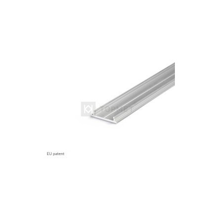 1m LED juostos profilio FIX12, 18mm pločio, neanoduotas aliuminis