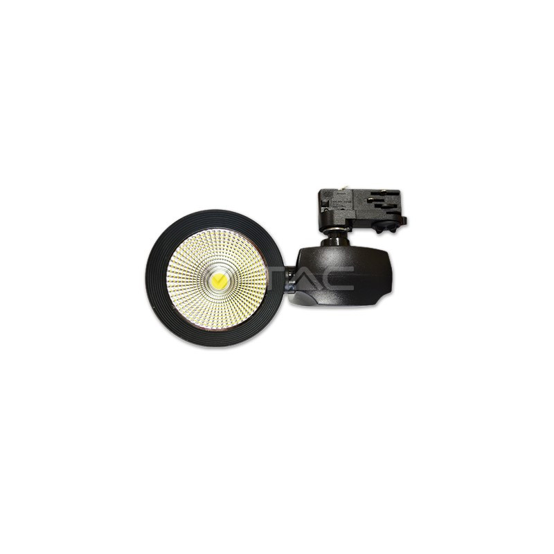 40W Euro LED šviestuvas ant bėgelio V-TAC, juodas, (4000K)