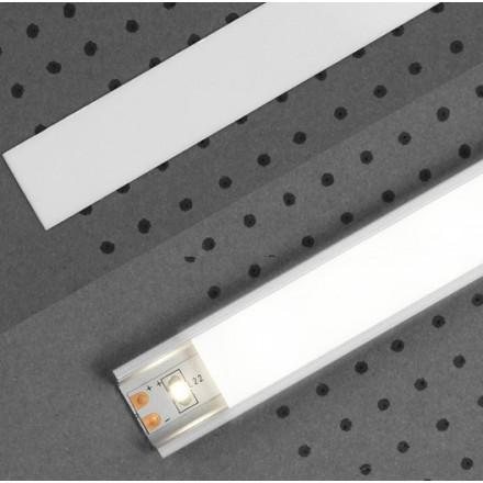 1m LED juostos profilio dangtelis A  (baltas)