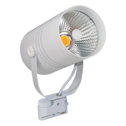 25W LED šviestuvas ant bėgelio, baltas, (4000K) dienos šviesa