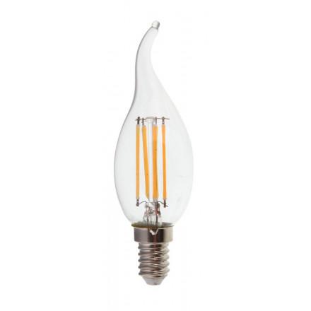 4W LED COG lemputė V-TAC E14, žvakės formos, (2700K) šiltai balta