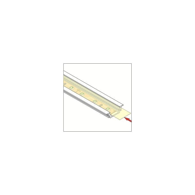 LED juostos profilio dangtelis B, 1m, (skaidrus).