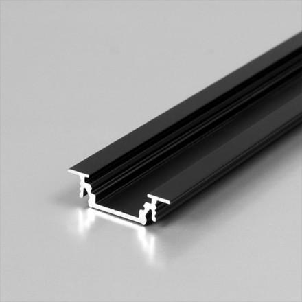 1m LED juostos profilio GROOVE10, juodai anoduotas