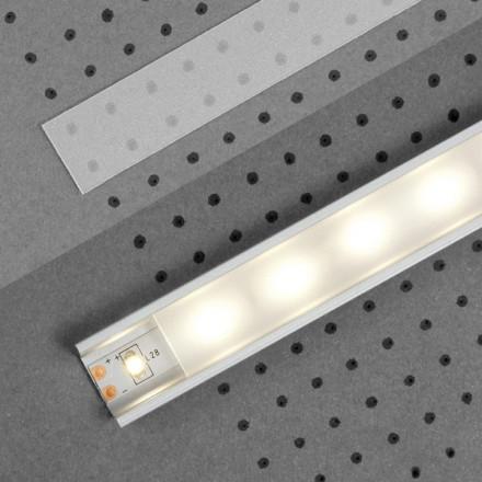 1m LED juostos profilio dangtelis E, matinis