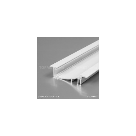 1m LED juostos profilio FLAT8, baltas