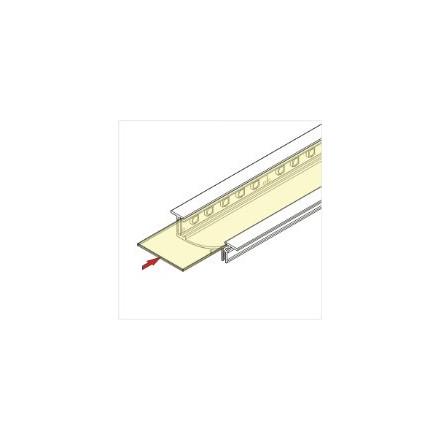 1m LED juostos profilio dangtelis H, skaidrus