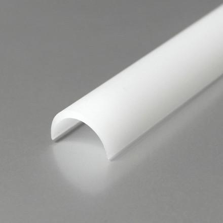 1m LED profilio juostos dangtelis (baltas) KLIK D