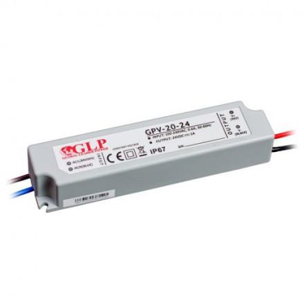 24W LED Maitinimo šaltinis GLP 24V IP67