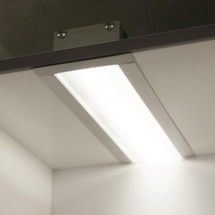 1m LED juostos profilis PHIL53 įleidžiamas, anoduotas