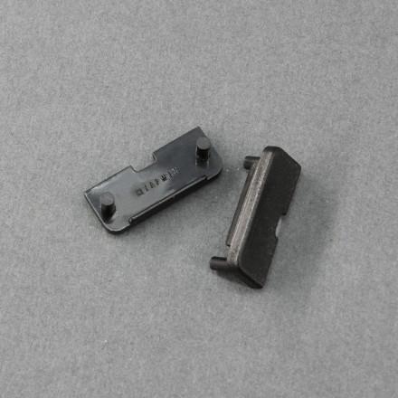 LED juostos profilio SURFACE10 užbaigimo elementas (juodas)