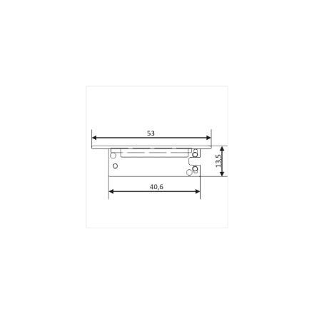 LED juostos profilio FLAT8 užbaigimo elementas, pilkas