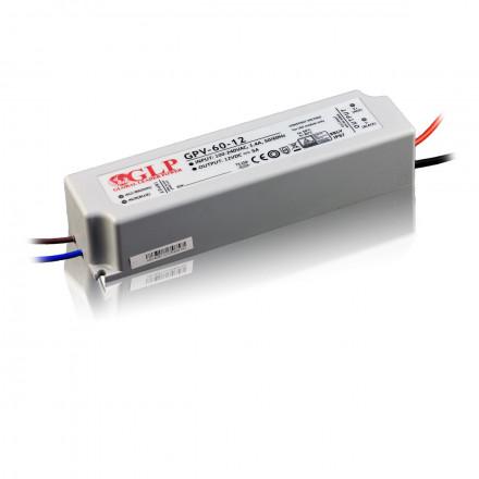 60W LED Maitinimo šaltinis GLP 12V IP67