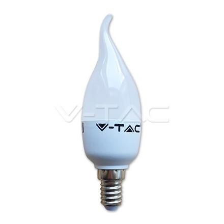 4W LED lemputė V-TAC E14 SMD, žvakės formos, 4500K (dienos šviesa)