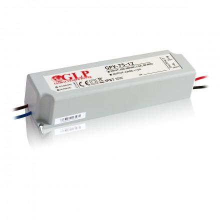 72W LED Maitinimo šaltinis GLP 12V IP67