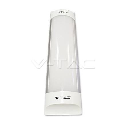 10W LED lempa T8 V-TAC 30cm, su matiniu dangteliu (Šiltai balta: 3000K)