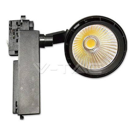 33W LED Šviestuvas ant bėgelio V-TAC, juodu korpusu, (3000K) šiltai balta