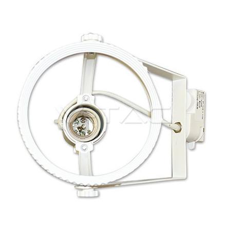 PAR38 lemputės laikiklis V-TAC, baltas, montuojamas ant 2 šerdžių bėgelio