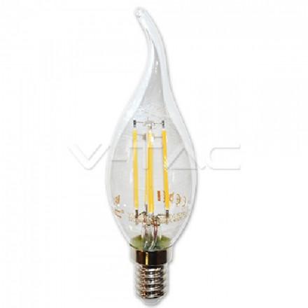 4W LED lemputė COG V-TAC E14, Žvakės formos, (2700K) šiltai balta, pritemdoma
