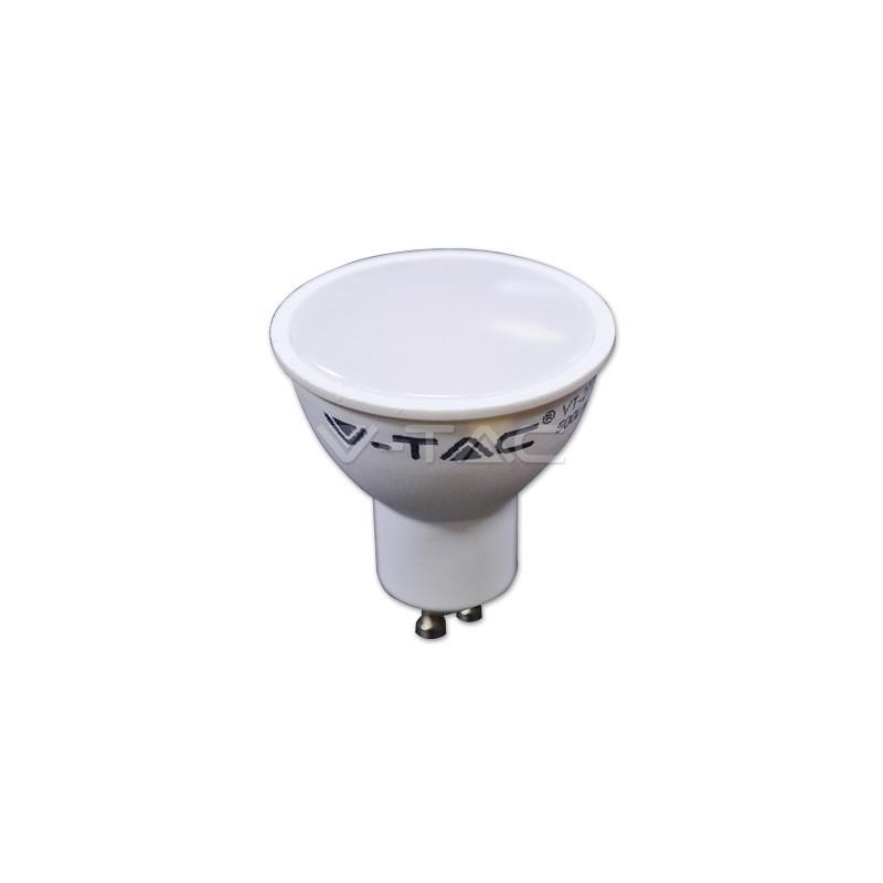 7W LED lemputė V-TAC GU10 SMD, (4500K) dienos šviesa, pritemdoma