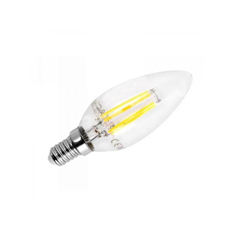 4W LED COG lemputė V-TAC E14, žvakės formos, (2700K) šiltai balta, pritemdoma