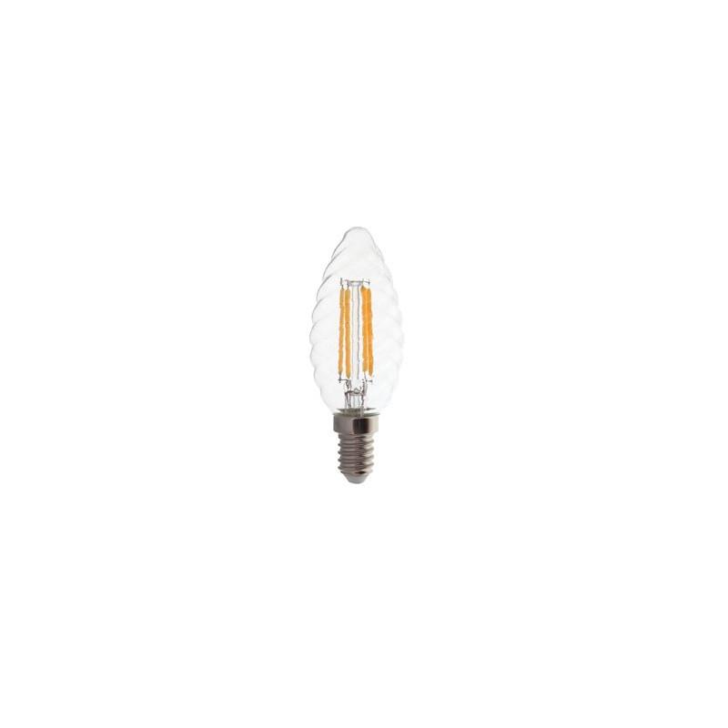 4W LED COG lemputė V-TAC E14, susuktos žvakes formos, (2700K) šiltai balta, pritemdoma