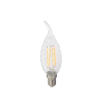 4W LED COG lemputė V-TAC E14, susuktos žvakes formos, riesta, (2700K) šiltai balta, pritemdoma